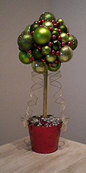 Topiary Christmas Table Decoration